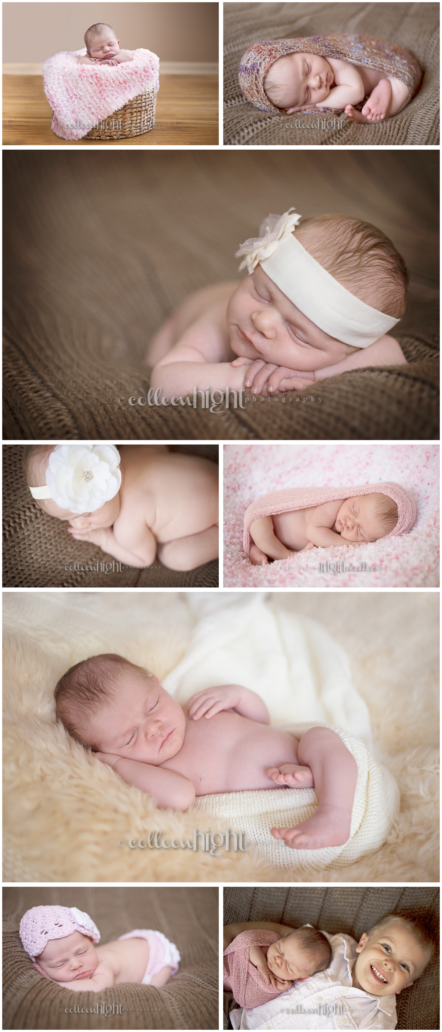 Newborn Session, Baby Girl in Ribbons & Bows