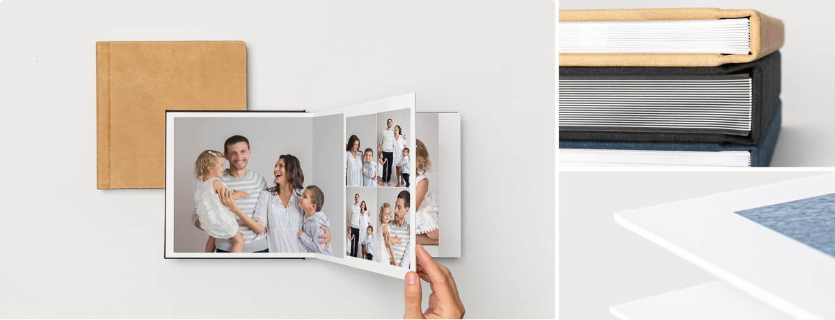 Beautiful printed photography album of family